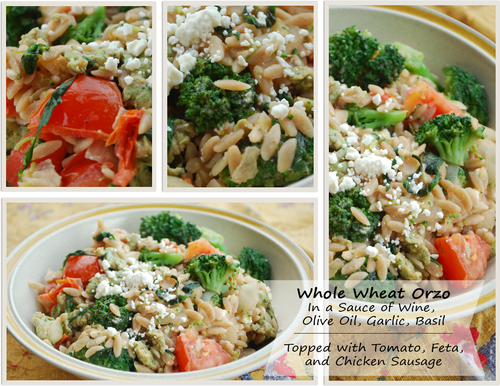 Whole Wheat Orzo and Vegetables titled