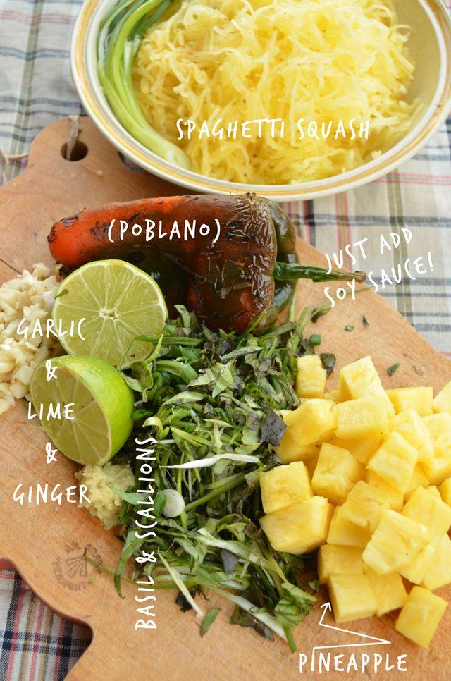 Vegan Gluten Free Thai Spiced Spaghetti Squash Recipe
