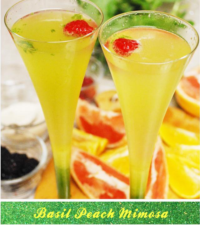 Peach Mimosa Drinks