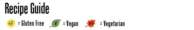 Vegan, Vegetarian, and Gluten Free Recipe Guide