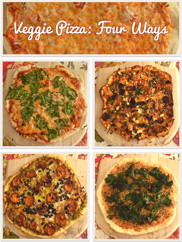 Veggie Pizza: Four Ways via @MaryMakesDinner | www.MaryMakesDinner.com