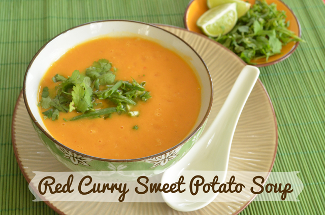 Red Curry Sweet Potato Soup via @MaryMakesDinner | www.MaryMakesDinner.com