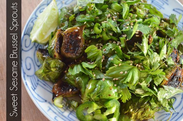 Sweet Sesame Brussel Sprouts Recipe from @MaryMakesDinner