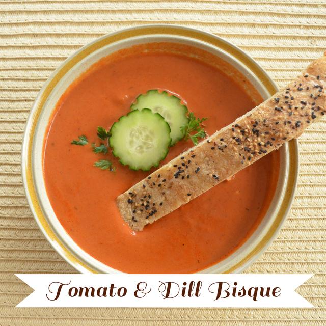 Tomato & Dill Bisque Recipe via @MaryMakesDinner | www.MaryMakesDinner.com
