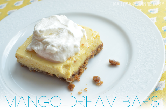 Mango Dream Bar Recipe via @MaryMakesDinner | www.MaryMakesDinner.com