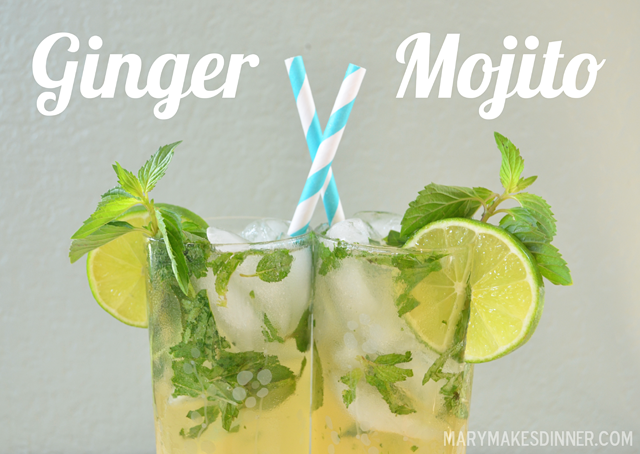 Ginger Mojito Cocktail Recipe via @MaryMakesDinner | www.MaryMakesDinner.com