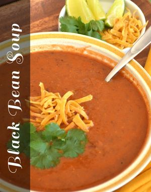 Black Bean Soup | www.MaryMakesDinner.com