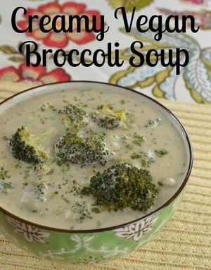 Creamy Vegan Broccoli Soup | www.MaryMakesDinner.com