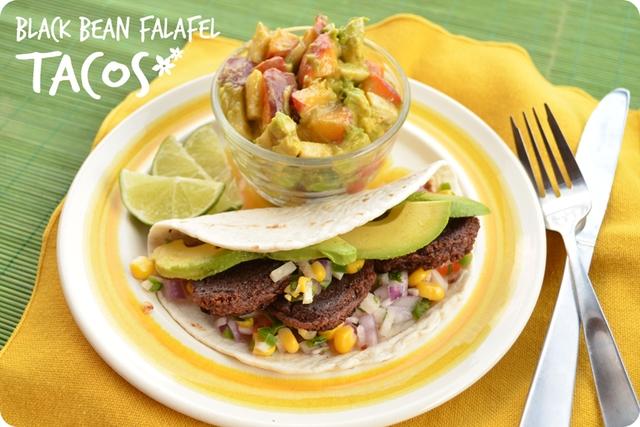 Black Bean Falafel Tacos | www.MaryMakesDinner.com