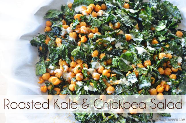 Roasted Kale & Chickpea Salad | marymakesdinner.typepad.com