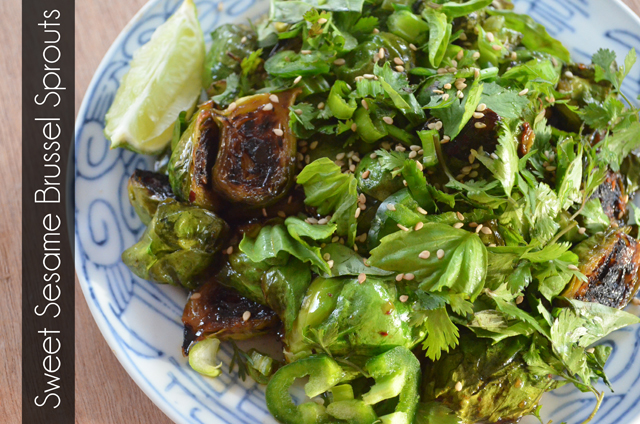 Sweet Sesame Brussel Sprouts | marymakesdinner.typepad.com