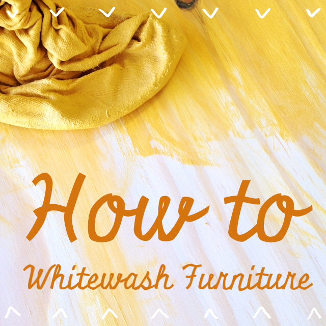 How to Whitewash Wood Furniture - Mary Makes Pretty