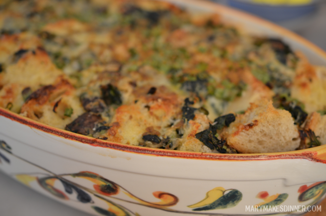 Heather's Spinach and Cheese Strata