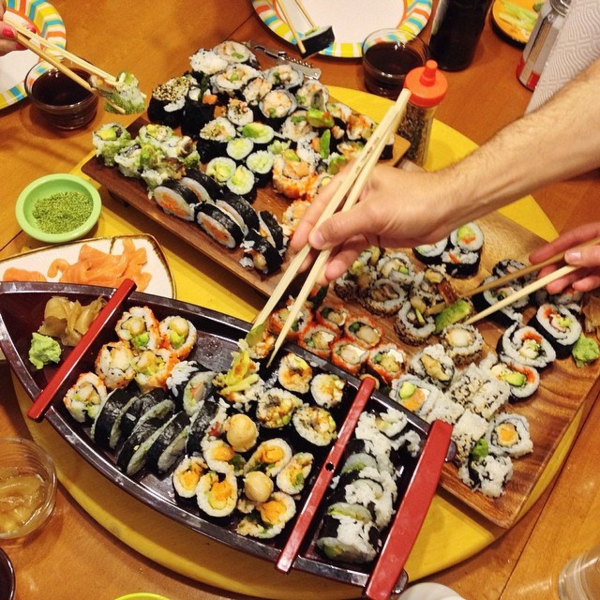 How To Throw A Homemade Sushi Party (Mary Makes Good