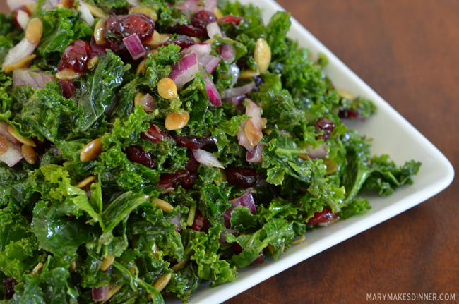 Sweet & Savory Kale Salad | Mary Makes Dinner