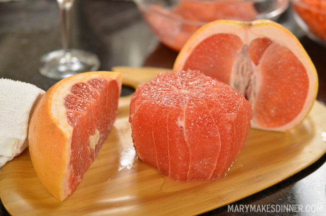 Texas Grapefruit Recipes | www.MaryMakesDinner.com