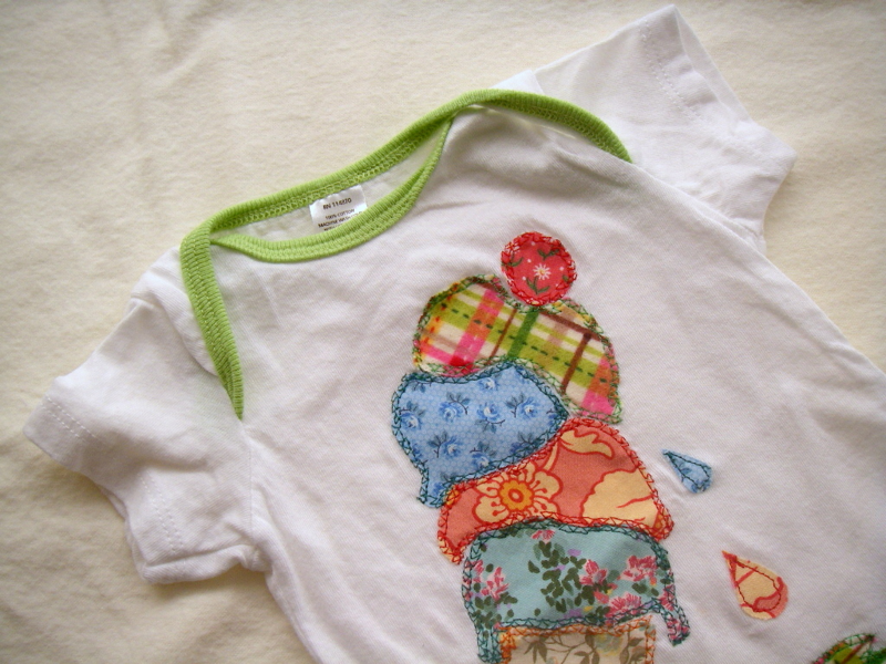 Ice cream applique onesie