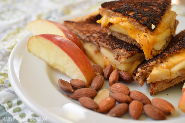 Grilled Apple, Cheddar and Almond Sandwich Recipe | Mary Makes Dinner