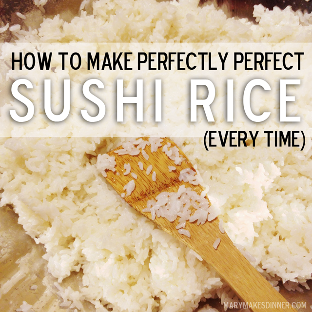 How To Make Perfectly Perfect Sushi Rice Every Time Mary Makes Good Ideas For A Happily Handmade Life