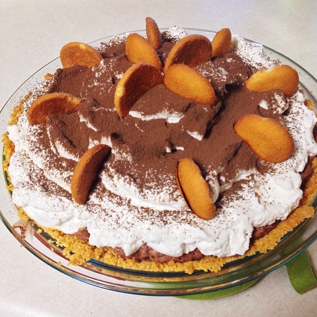 A chocolate pie for my hubster.