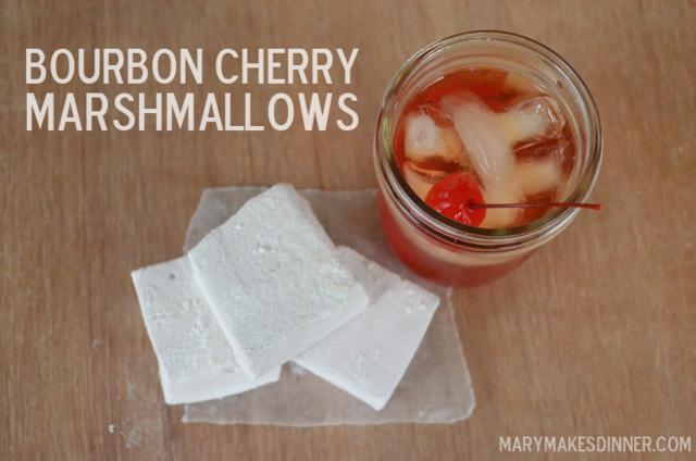 Bourbon Cherry Marshmallows Recipe | Mary Makes Dinner