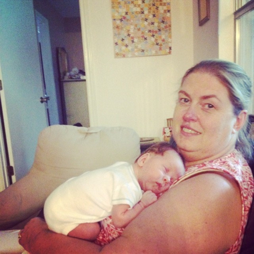 Napping on Grandma