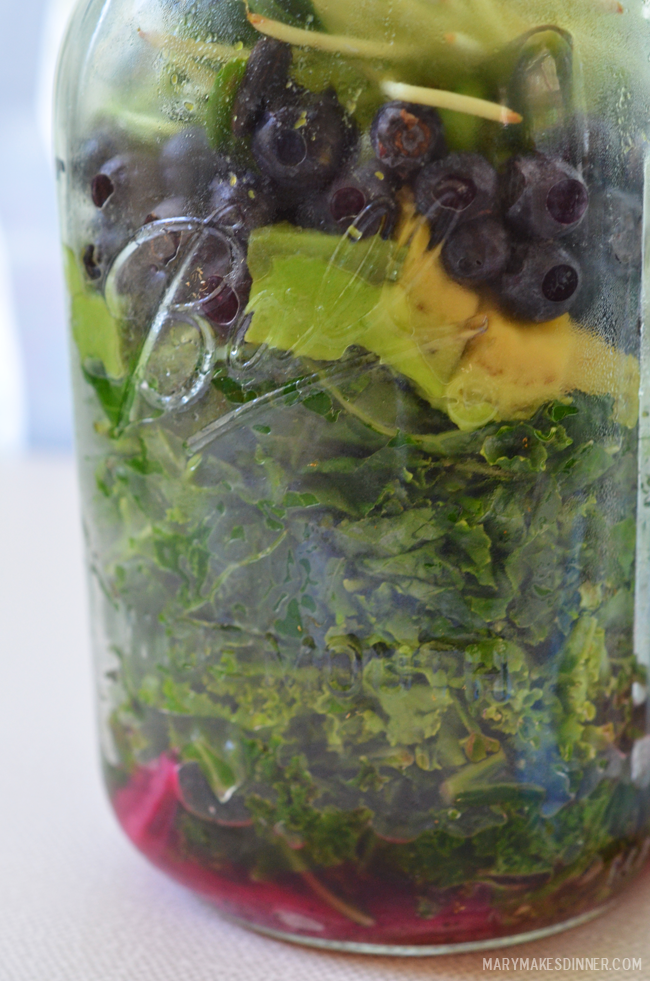 Kale & Avocado Salad from Mason Jar Salads by Julia Mirabella | Mary Makes Dinner