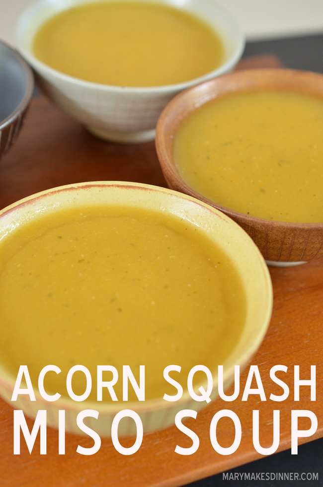 Simple Acorn Squash & Miso Soup Recipe | Mary Makes Dinner