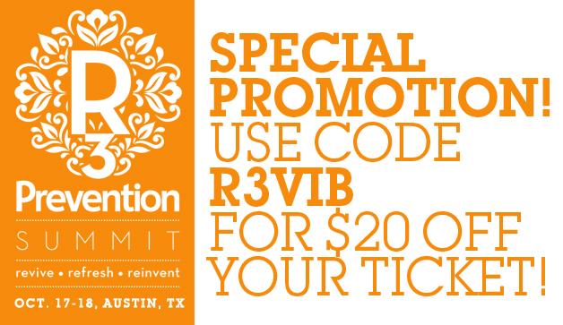 R3 Prevention Summit Discount Code