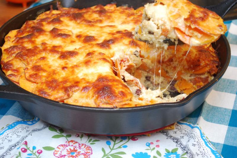 Creamy Chipotle Sweet Potato & Quinoa Casserole Recipe | Mary Makes Dinner
