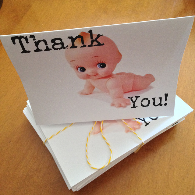 Kewpie Thank You Cards | Travel Themed Baby Shower | Mary Makes Pretty