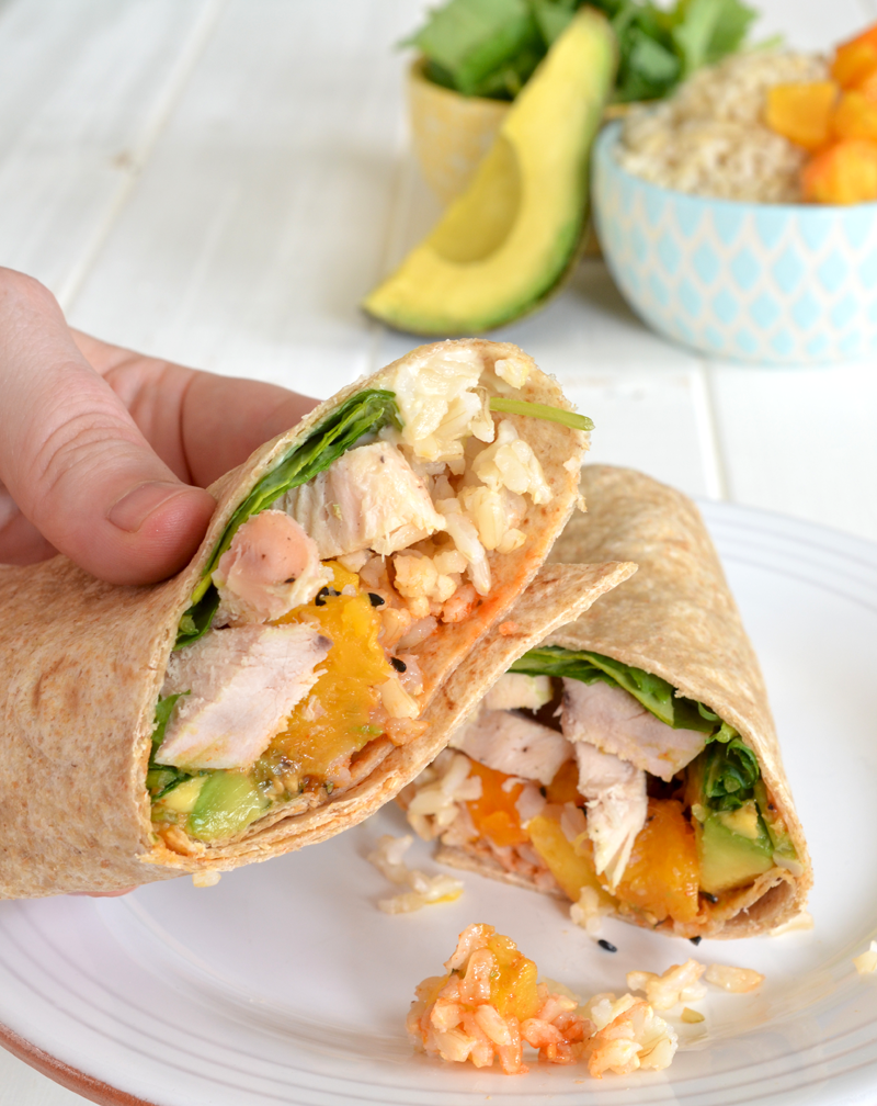 Spicy Chicken Avocado Wraps | Mary Makes Good