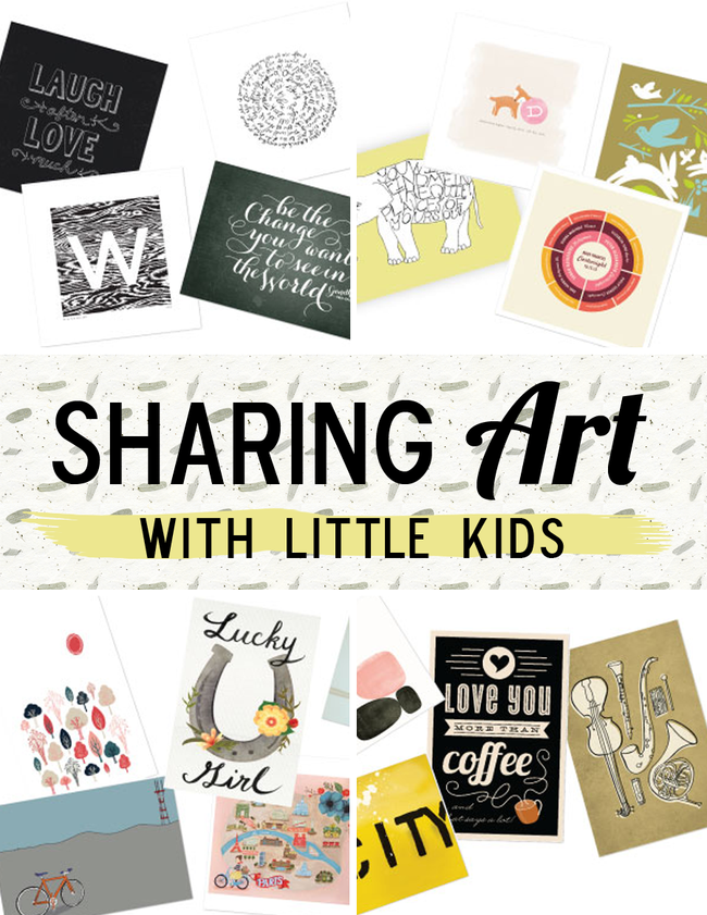 Sharing Art With Little Kids