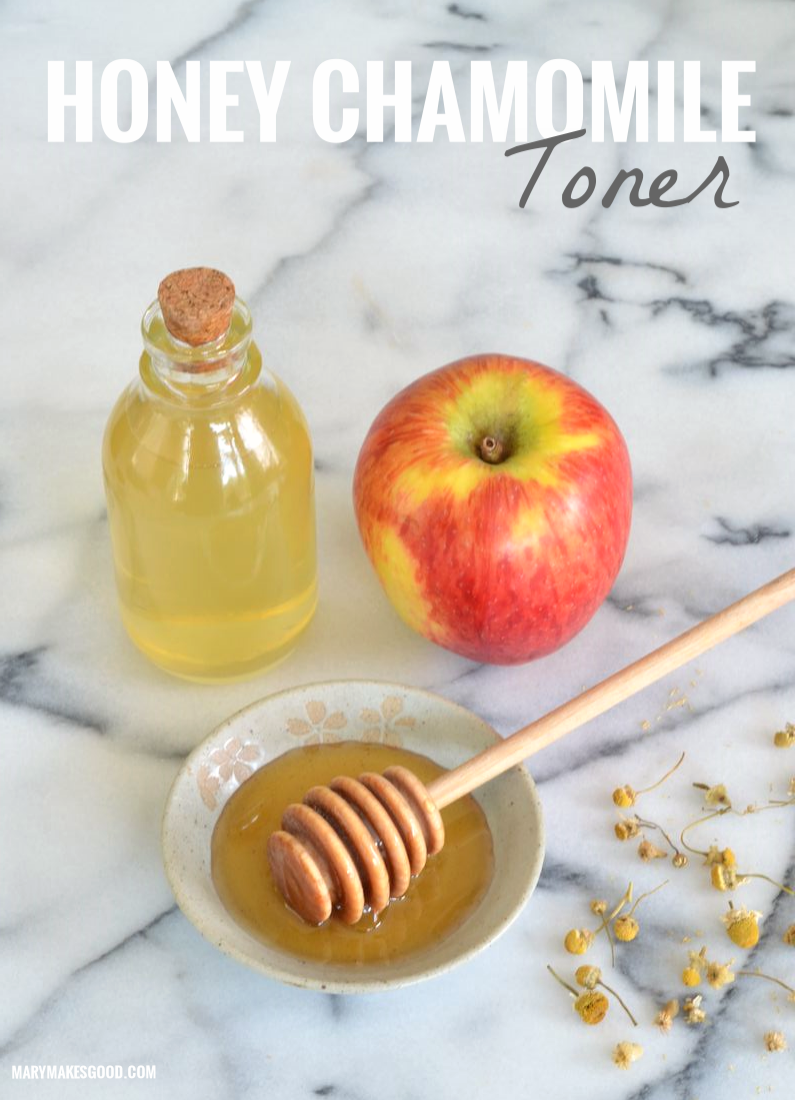 This simple DIY toner recipe is great for all skin types and uses just a handful of all natural ingredients! - Sponsored by The National Honey Board