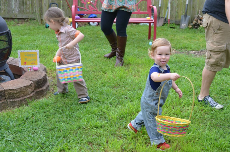 CC hearts Easter egg hunts.