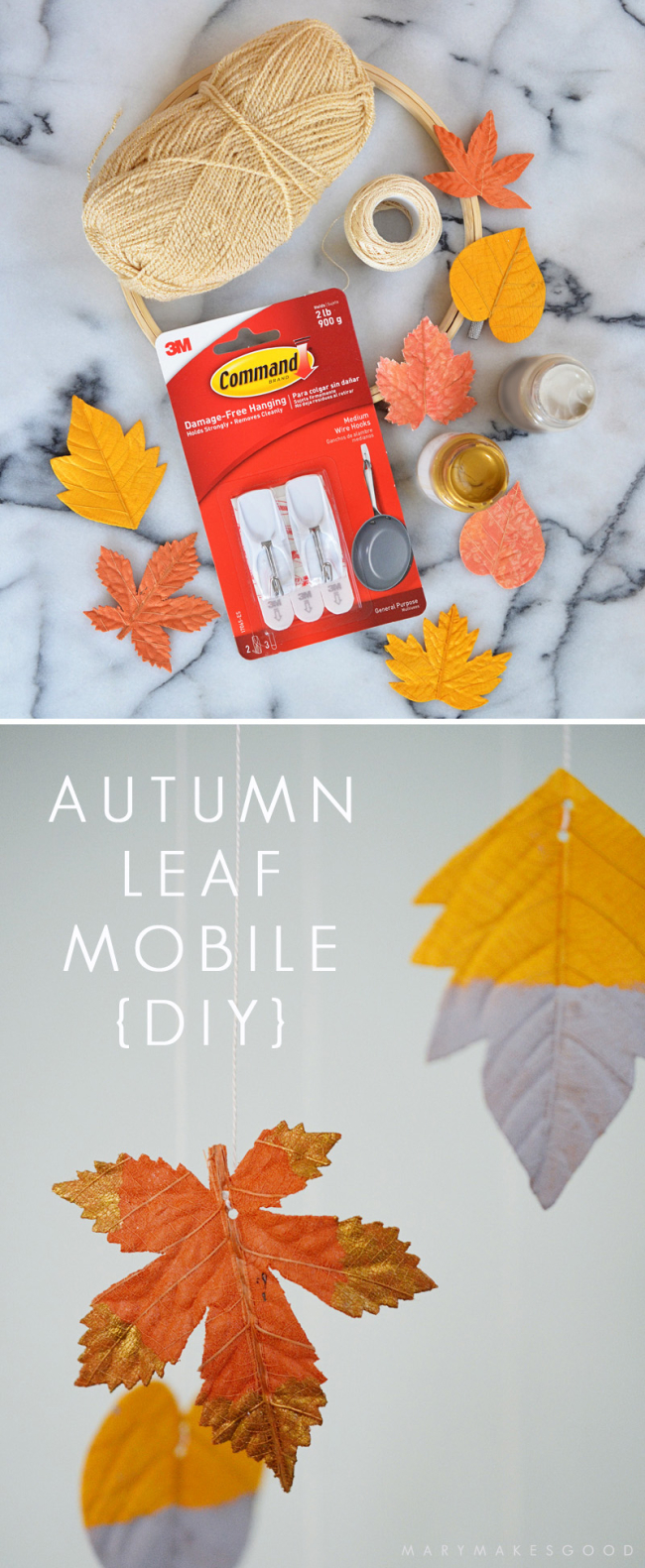 Autumn Leaf Mobile {DIY Craft Tutorial}