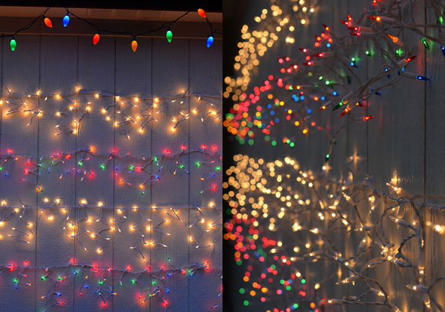 Striped Holiday Light Wall {A Home Tutorial}
