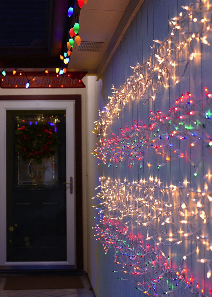 Make Your Own Damage Free Twinkle Light Wall For The Holidays