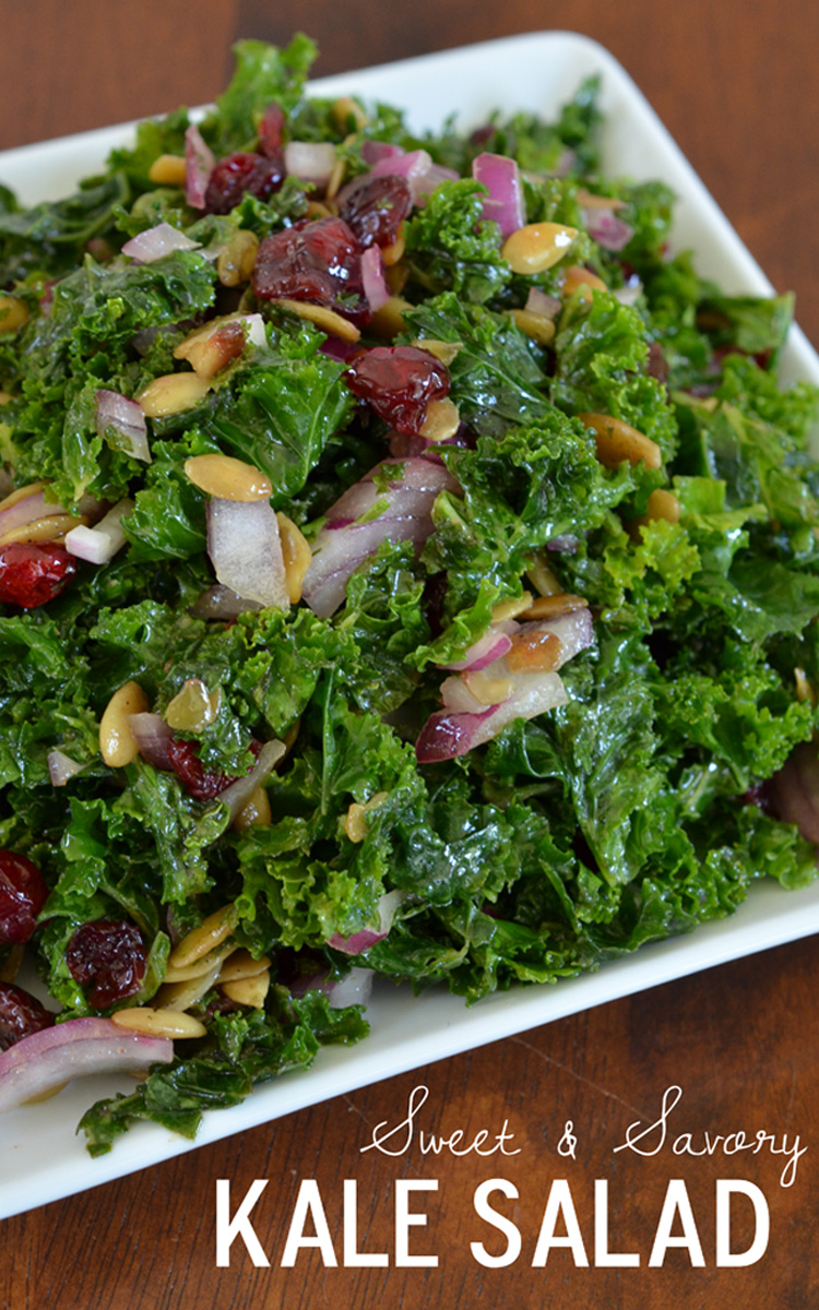 Sweet and Savory Kale Salad