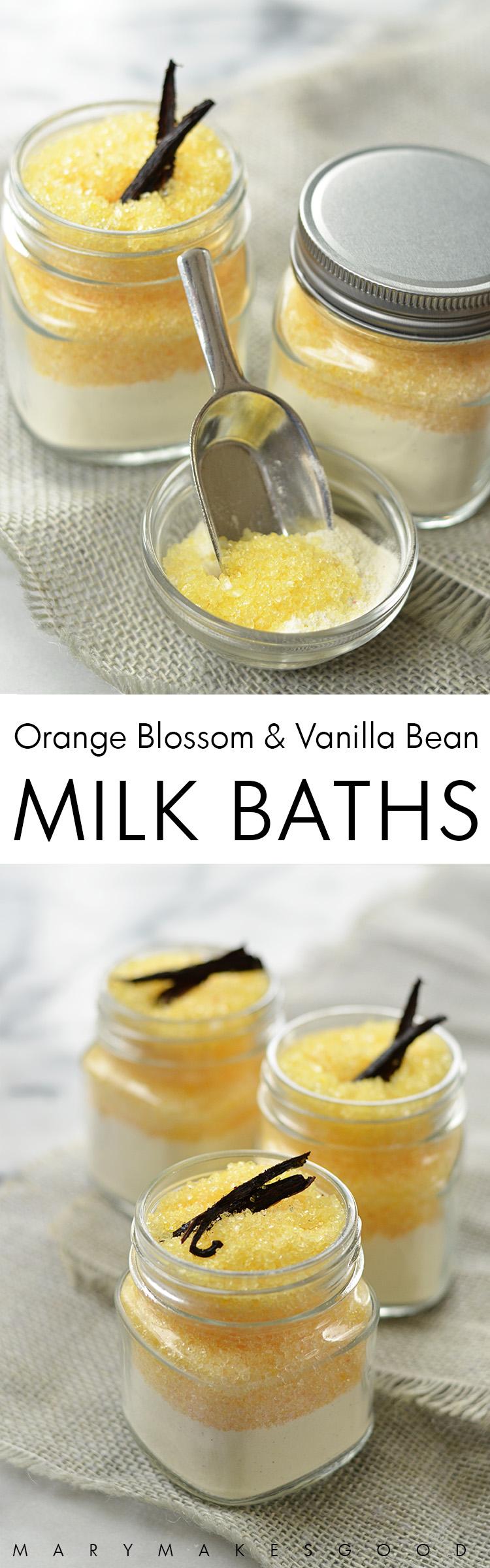 Orange Blossom Vanilla Bean Milk Bath