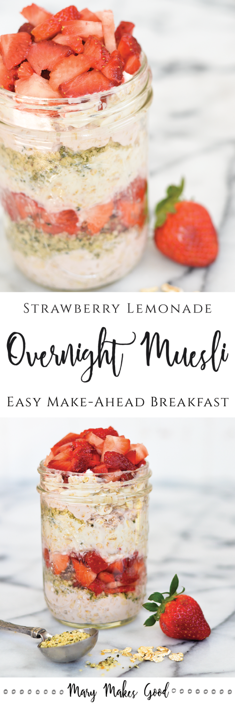Strawberry Lemonade Overnight Muesli Pin