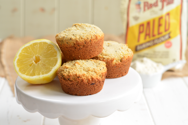 Grain-Free Lemon Chia Seed Muffins
