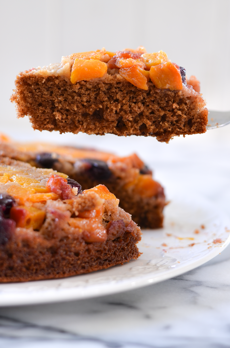 All Natural Apple Peach Upside Down Cake Recipe
