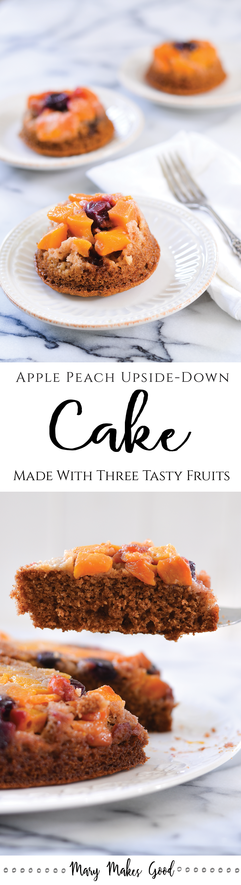 An easy recipe for Apple Peach Upside Down Cake