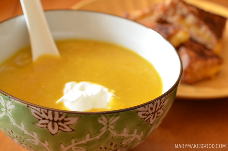 Sunshine Soup with Butternut and Turmeric | Mary Makes Good