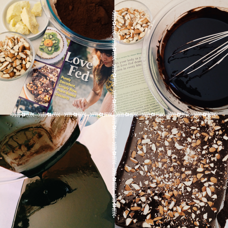 Dark Chocolate Almond Bark Recipe from the Love Fed Cookbook by Christina Ross   Mary Makes Good
