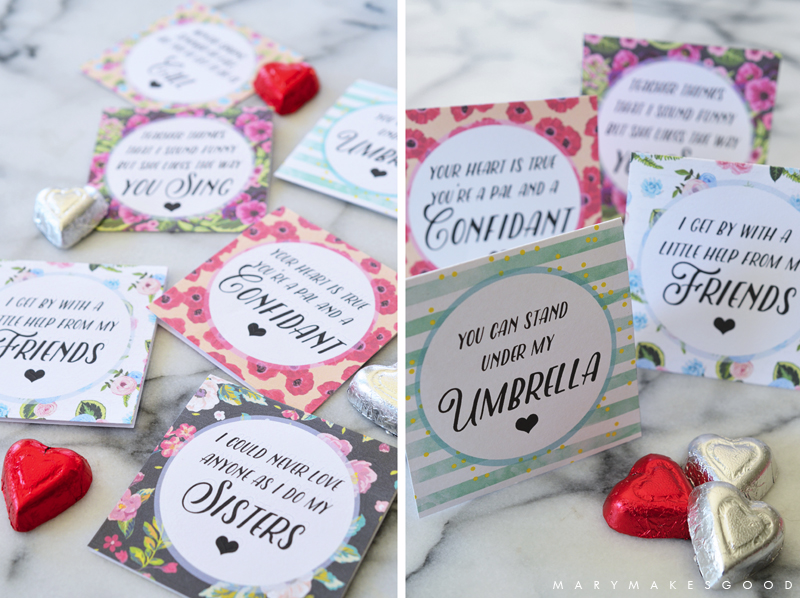 Printable Galentine's for Your Sisters, Besties, and Lady-Loves