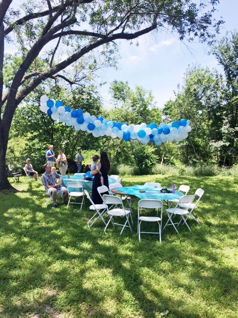 Backyard Balloon Arch