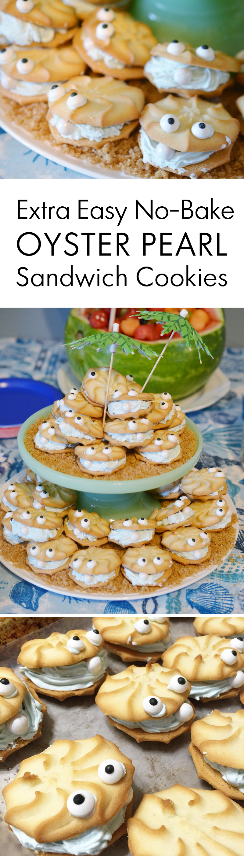Oyster Pearl Sandwich Cookies