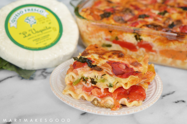 Roasted Vegetable Lasagna with Queso Fresco